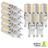 Sunix� 10x Haute Puissance G9 3w 64 Smd 3014 Ac 220-240v Led Lampe Silicone Ampoule � Broches Spotlight �conomie D'�nergie Blanc Chaud Su068