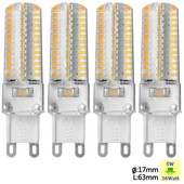 Sunix� 4x Haute Puissance G9 5w 104 Smd 3014 Ac 220-240v Led Lampe Silicone Ampoule � Broches Spotlight �conomie D'�nergie Blanc Chaud Su071