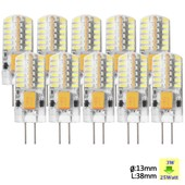 Sunix� 10x Haute Puissance G4 3w 48 Smd 3014 Dc/Ac 12v Led Silicone Lampe Ampoule � Broches Spotlight �conomie D'�nergie Blanc Pur Dimmable