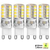 Sunix� 4x Haute Puissance G9 3w 36 Smd 2835 Ac 220-240v Led Lampe Silicone Ampoule � Broches Spotlight �conomie D'�nergie Blanc Chaud Su059