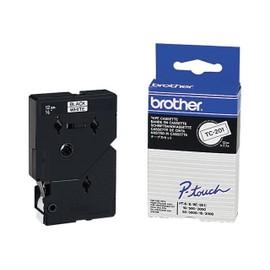 Brother - �tiquettes - Noir - Blanc - Rouleau (1,2 Cm) 1 Rouleau(X) - Pour P-Touch Pt-15, Pt-20, Pt-6