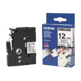 Brother Tzn231 - Noir Sur Blanc - Rouleau (1,2 Cm X 8 M) 1 Unit�s Bande Imprimante - Pour P-Touch Pt-1010, Pt-1080, Pt-1250, Pt-1290, Pt-18, Pt-1830, Pt-2430, Pt-2700, Pt-Gl-200