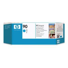 Hp 90 - Cyan - T�te D'impression Avec Nettoyeur - Pour Designjet 4000, 4020, 4500, 4520; Designjet Scanner 4520