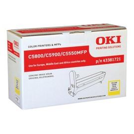 Oki - Jaune - Kit Tambour - Pour C5550 Mfp, 5800dn, 5800ldn, 5800n, 5900cdtn, 5900dn, 5900dtn, 5900n