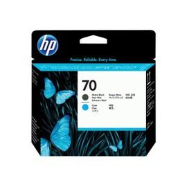 Hp 70 - Cyan, Noir Mat - T�te D'impression - Pour Designjet Hd Pro Mfp, Z2100, Z3100, Z3200, Z5200, Z5400; Photosmart Pro B8850, Pro B9180