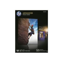 Hp Advanced Glossy Photo Paper - Papier Photo Brillant - 130 X 180 Mm 25 Feuille(S) - Pour Deskjet 2050 J510, 3050 J610; Envy 100 D410, 11x D411; Photosmart 5525, 6525, 65xx B211
