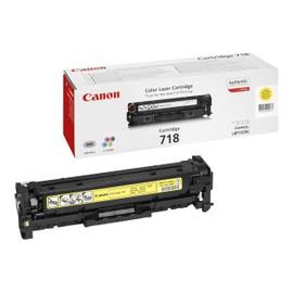 Canon 718 Yellow - Jaune - Original - Cartouche De Toner - Pour I-Sensys Lbp7210, Lbp7680, Mf728, Mf729, Mf8340, Mf8360, Mf8380, Mf8540, Mf8550, Mf8580