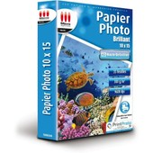 Papier Photo Brillant 10x15 300g/m� 35 feuilles