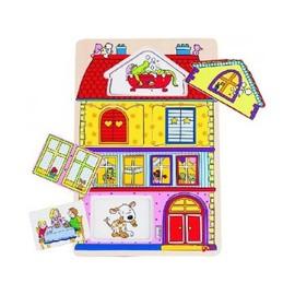 Puzzle En Bois Avec Images Cachees La Maison 6 Pieces