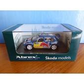 Skoda Fabia Wrc #12 Evoii Deutschland Rallye 2006 Aigner Abrex 143xab601ta 1/43 Red Bull