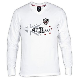 Tee Shirt Homme Manches Longues Rugby New Zealand Shilton