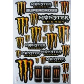 Planche Autocollant Stickers Monster Energy Orange + De 20 Pieces