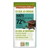 Ethiquable - Chocolat Noir Grand Cru 72% Bio & �quitable 100 G - Origine Ha�ti