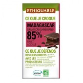 Ethiquable - Chocolat Noir Grand Cru 85% Bio & �quitable 100 G - Origine Madagascar