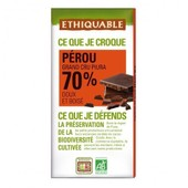 Ethiquable - Chocolat Noir Grand Cru 70% Bio & �quitable 100 G - Origine P�rou