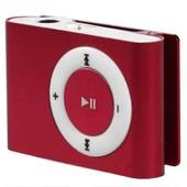 Baladeur lecteur MP3 rouge - Lecteur de carte Micro SD