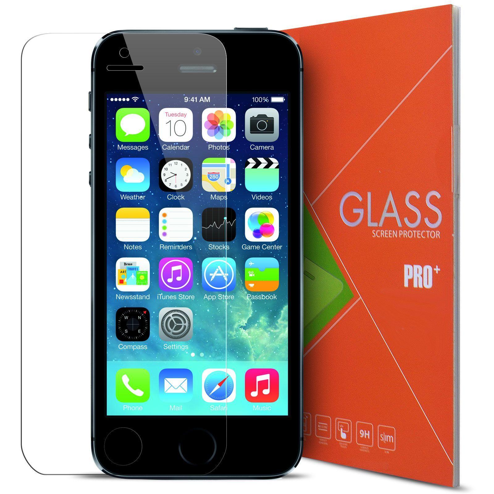 Caseink - Protection �cran Verre Tremp� Apple Iphone 5/5s/Se/5c - 9h S�ries Glass Pro+ Hd [ Duret� Extreme 9h Epaisseur 0.33mm Angles Incurv�s 2.5d ]