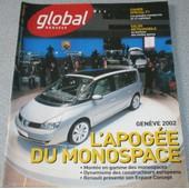 Global Renault N�11-Mars2002- L'apog�e Du Monospace- Gen�ve 2002- R�tromobile-Sp�cial F1