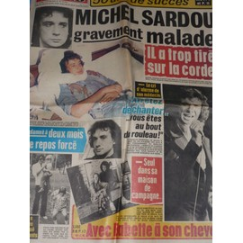 Ici Paris 1761 Michel Sardou Ray Ventura Sacha Distel Bruno Coquatrix Mia Farrow Pia Colombo