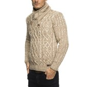 Subliminal Mode Pull Over Col Ch�le Homme Tricot Sb-16082 Petite Maille Montant