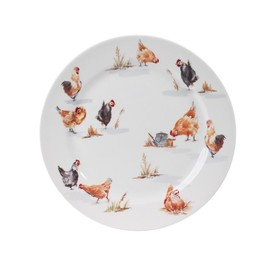 Table Passion - Assiette Plate 26 Cm Poule Campagne ( Lot De 6 )