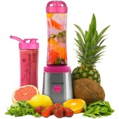 Machine � Smoothie Blender Andrew James, 2 Bouteilles De 600ml Incluses � Rose � 2 Ans Garantie