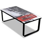Vidaxl Table Basse En Verre Design Cabine T�l�phonique