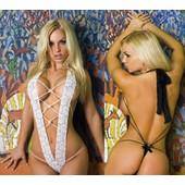 Ensemble Sexy Sous V�tements Lingerie Body Lacets String Ficelle