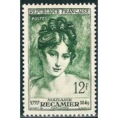 France 1950, Tr�s Bel Exemplaire Yv. 875, Madame R�camier, Neuf** Luxe