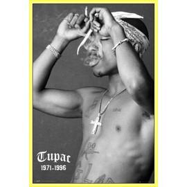 Poster encadré: 2pac - Smoke (91x61 cm), Cadre Plastique, Jaune