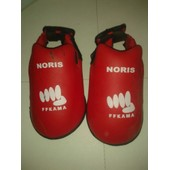 Noris - Protection De Pied Ffkarate - Couleur : Rouge - Taille : Small