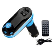 MP power Transmetteur FM et dual USB dapteur allume-cigare pour Tous t�l�phone portable Bluetooth