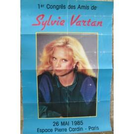 SYLVIE VARTAN RARE AFFICHE ESPACE CARDIN 1985