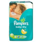 Pampers Baby Dry Taille 4 (7-18kg) 42 Couches