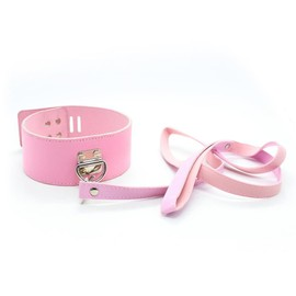 Collier + Laisse Rose Sexy Bdsm Bondage Sexe Sextoy Sex Toy Collar Leash Hot Rose Pink