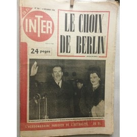 Inter 165 : Amiral Canaris, Guerre Froide, Indochine, Luis Mariano, Malaparte,