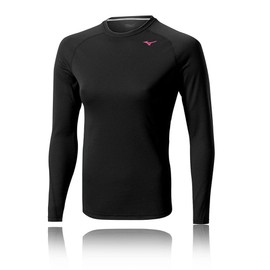 Mizuno Breathe Thermo Light Femmes Haut Manche Longue Col Rond Running Sport Top