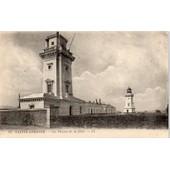 Carte Postale Ancienne - Sainte Adresse - Les Phares De La H�ve