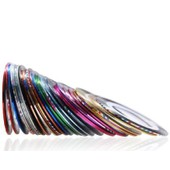 10 Rouleaux Ultra Fin Striping Tape Fil Autocollant Sticker Nail Art Ongles