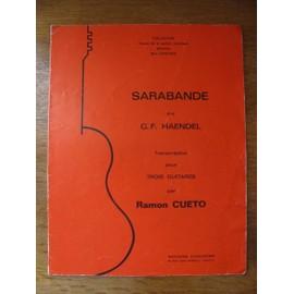 Sarabande de G.F. Haendel (Partition pour trois guitares)