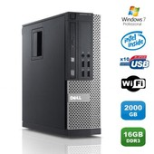 PC DELL Optiplex 790 SFF Intel Pentium G840 2.8Ghz 16Go DDR3 2To WiFi Win 7 Pro