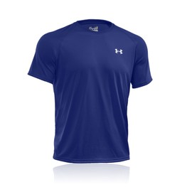 Under Armour Tech Hommes T-Shirt Blue L�ger Haut Manche Courte Gym Top Sport