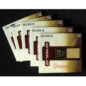Lot de 5 MD Sony 74 Premium