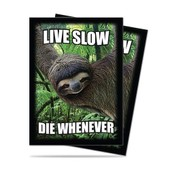 Sleeves - Prot�ges Cartes : Live Slow Die Whenever