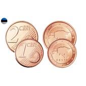 Lot 1 Et 2 Cts Euro Estonie Unc De 2012