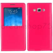 Etui Coque Housse Flip Cover View Samsung Galaxy Grand Prime (G530) Rose Dreamshop75�