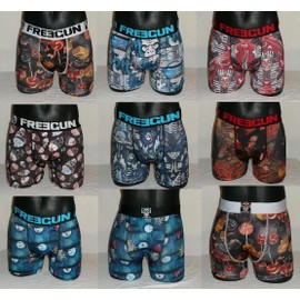 Freegun Lot 7 Boxers Homme Serie Halloween 7 Motifs Differents