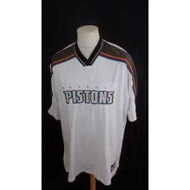Maillot De Baskett Vintage Nba Detroit Pistons * Champion Blanc Taille L