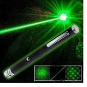 Pointeur laser vert 1MW puissant 2 TETES MULTI MOTIFS KALEIDOSCOPE ET POINTEUR