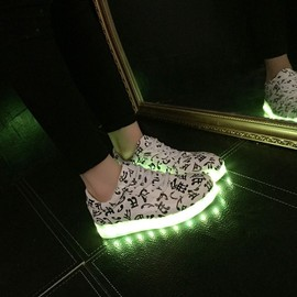 Chaussures Led Femme Homme Note Musicale Usb Rechargeable 7 Couleurs Chaussures Lumineuses Clignantes Baskets Led Unisexe